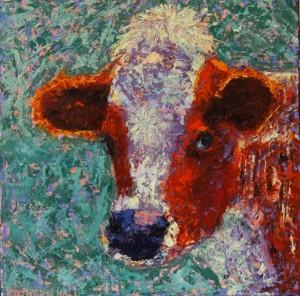 Kathleen Hall, Darcy, oil on canvas, 8 X 8 © The Artist