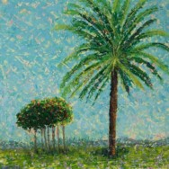 Leafy Palm with Small Trees