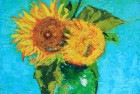 Three Sunflowers in a Vase (After Van Gogh)