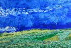 Wheat Field Under Clouded Skies (After Van Gogh)