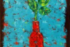 Flower in Red Vase