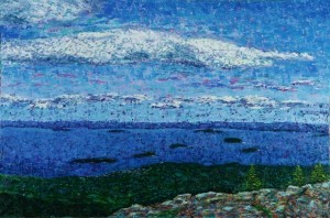 View From Cadillac Mountain, oil on canvas, 36 X 24 © Kathleen Hall