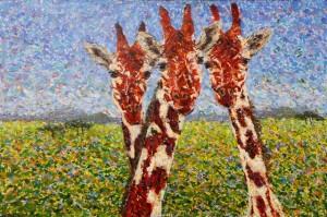 On the Savanna, oil on canvas, 30 X 20 (c) Kathleen Hall