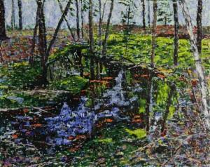 Creek on Crooked Road, oil on canvas, 20 X 16 (c) Kathleen Hall