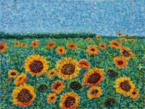 Field of Sunflowers, oil on canvas, 40 X 30 (c) Kathleen Hall