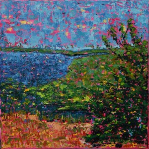 Marsh, 12 X 12, oil on canvas (c) Kathleen Hall