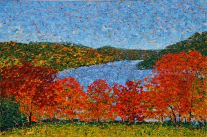 Squantz Pond, oil on canvas, 36 X 24 (c) Kathleen Hall