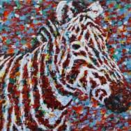 New Painting: Zebra
