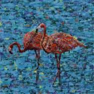 Flamingos at Crossroads Art Center